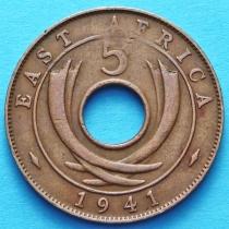 Британская Восточная Африка 5 центов 1941 год №2