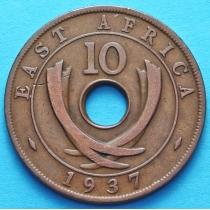 Британская Восточная Африка 10 центов 1937 год.