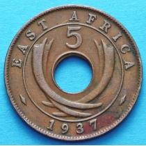 Британская Восточная Африка 5 центов 1937 год (Н)