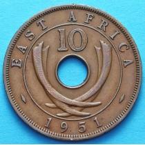 Британская Восточная Африка 10 центов 1950-1951 год