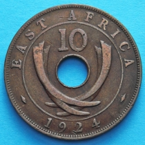 Британская Восточная Африка 10 центов 1922-1924 год