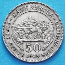 Британская Восточная Африка 50 центов 1948 год.