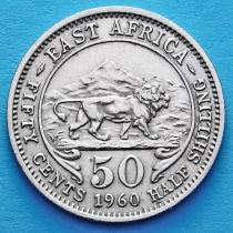 Британская Восточная Африка 50 центов 1960-1962 год.