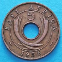 Британская Восточная Африка 5 центов 1956 год.