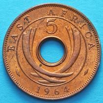 Британская Восточная Африка 5 центов 1964 год.