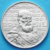 Бразилия 2000 рейс 1932 год. 400 лет колонизации Бразилии. Серебро.