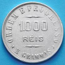 Бразилия 1000 рейс 1906 год. Серебро.