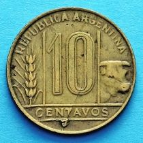 Аргентина 10 сентаво 1948-1949 год.