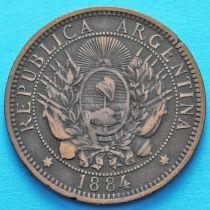 Аргентина 2 сентаво 1884 год.