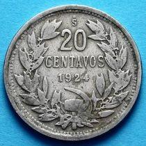 Чили 20 сентаво 1921 - 1929 год.