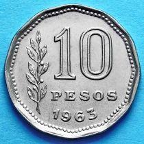 Аргентина 10 песо 1962-1968 год.