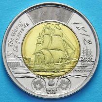 Канада 2 доллара 2012 год. Фрегат «Шеннон».