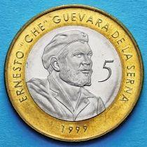 Куба 5 песо 1999 год. Че. UNC.
