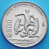 Мексика 200 песо 1986 год. ЧМ по футболу.