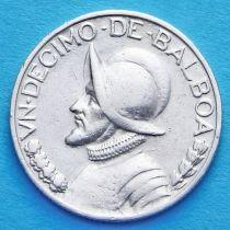 Панама 1/10 бальбоа 1930-1947 год. Серебро.