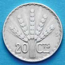 Уругвай 20 сентесимо 1942 год. Серебро.