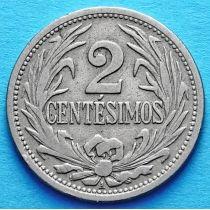 Уругвай 2 сентесимо 1924-1936 год.