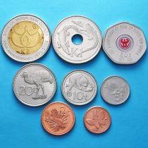 Папуа Новая Гвинея набор 8 монет 2001-2008 год.
