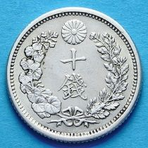 Япония 10 сен 1873-1906 г. Серебро