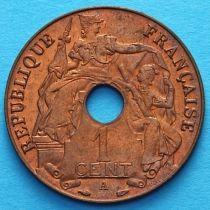 Французский Индокитай 1 сантим 1938-1939 год. А. Без обращения.