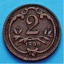 Австрия 2 геллера 1894-1914 год.