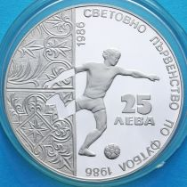 Болгария 25 лева 1986 год. ЧМ по футболу в Мексике. Серебро.