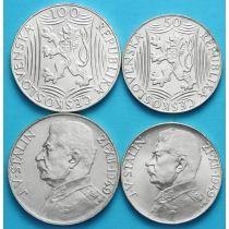 Чехословакия набор 2 монеты 1949 г. Сталин