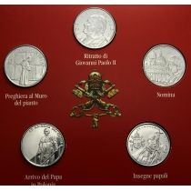 Мальтийский орден набор 5 монет по 1 лире 2005 г.