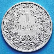 Германия 1 марка 1905 год. Серебро G.