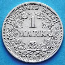 Германия 1 марка 1907 год. Серебро F.