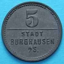 Германия 5 пфеннигов 1918 год. Нотгельд Бургхаузен на Зальцахе.