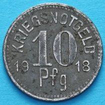 Германия 10 пфеннигов 1918 год. Нотгельд Апольда. Железо.