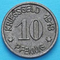 Германия 10 пфеннигов 1918 год. Нотгельд Зиген.