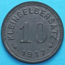 Германия 10 пфеннигов 1917 год. Нотгельд Айслебен.