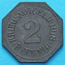 Германия 2 пфеннига 1918 год. Нотгельд Апольда.