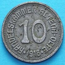 Германия 10 пфеннигов 1918 год. Нотгельд Альтена.