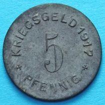 Германия 5 пфеннигов 1917 год. Нотгельд Меттман. №2
