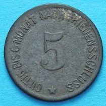 Германия 5 пфеннигов 1917 год. Нотгельд Хаммельбург.