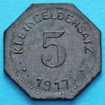 Германия 5 пфеннигов 1917 год. Нотгельд Айслебен.