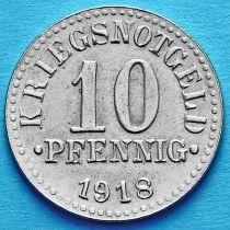Германия 10 пфеннигов 1918 год. Нотгельд Брауншвейг.