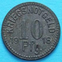 Германия 10 пфеннигов 1918 год. Нотгельд Апольда. Цинк.