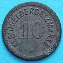 Германия 10 пфеннигов 1917 год. Нотгельд Дармштат.