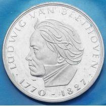 ФРГ 5 марок 1970 год. Людвиг ван Бетховен. Серебро.