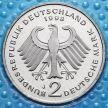 Монета ФРГ 2 марки 1994-1998 год. Франц Йозеф Штраус. Пруф.
