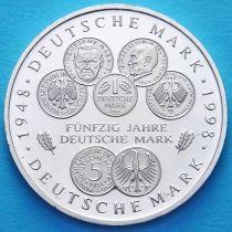 ФРГ 10 марок 1998 год. F. Немецкая марка. Серебро.