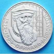 ФРГ 5 марок 1969 год. Герхард Меркатор. Серебро