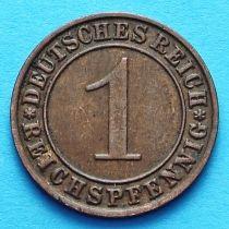 Лот 10 монет Германии 1 пфенниг 1924-1936 год.