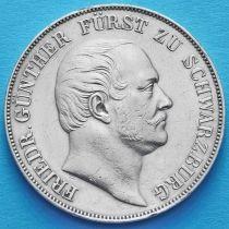 Шварцбург-Рудольштадт , Германия 1 талер 1859 год. Серебро.