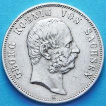 Саксония-Альбертина, Германия 5 марок 1904 год. Серебро.