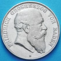 Баден, Германия 5 марок 1904 год. Серебро.